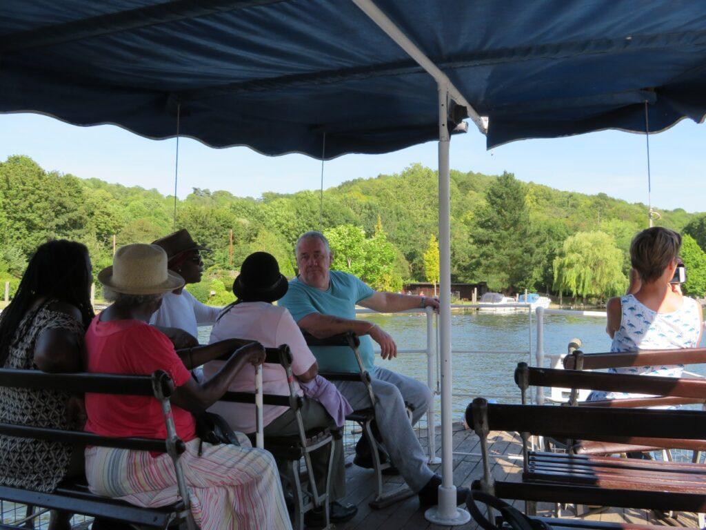 RAB Members on a river boat trip