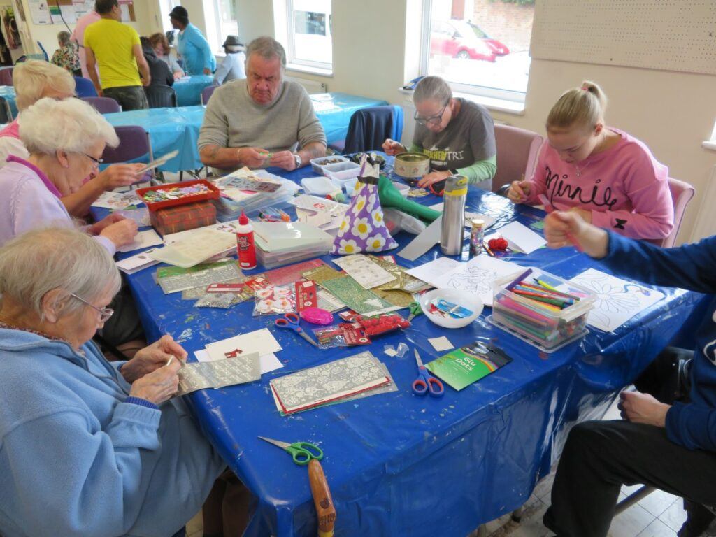 RAB Members taking part in card making activity